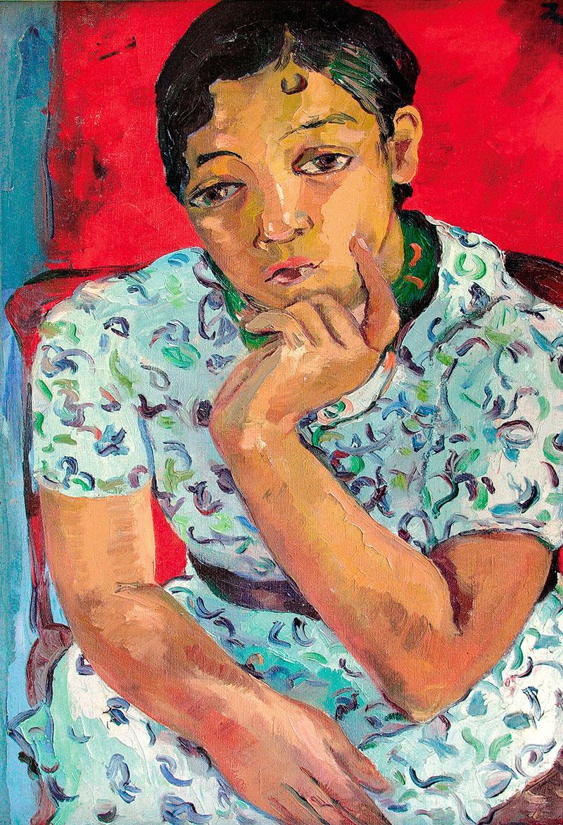 Irma Stern: Girl in Print Dress