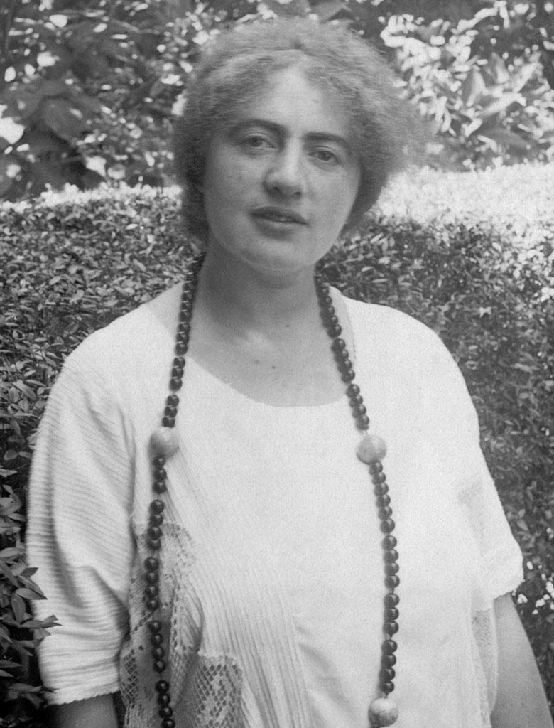 Irma Stern portrait picture, standing in garden